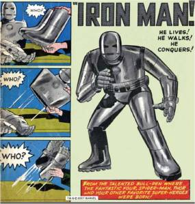 The original look for Iron Man.
